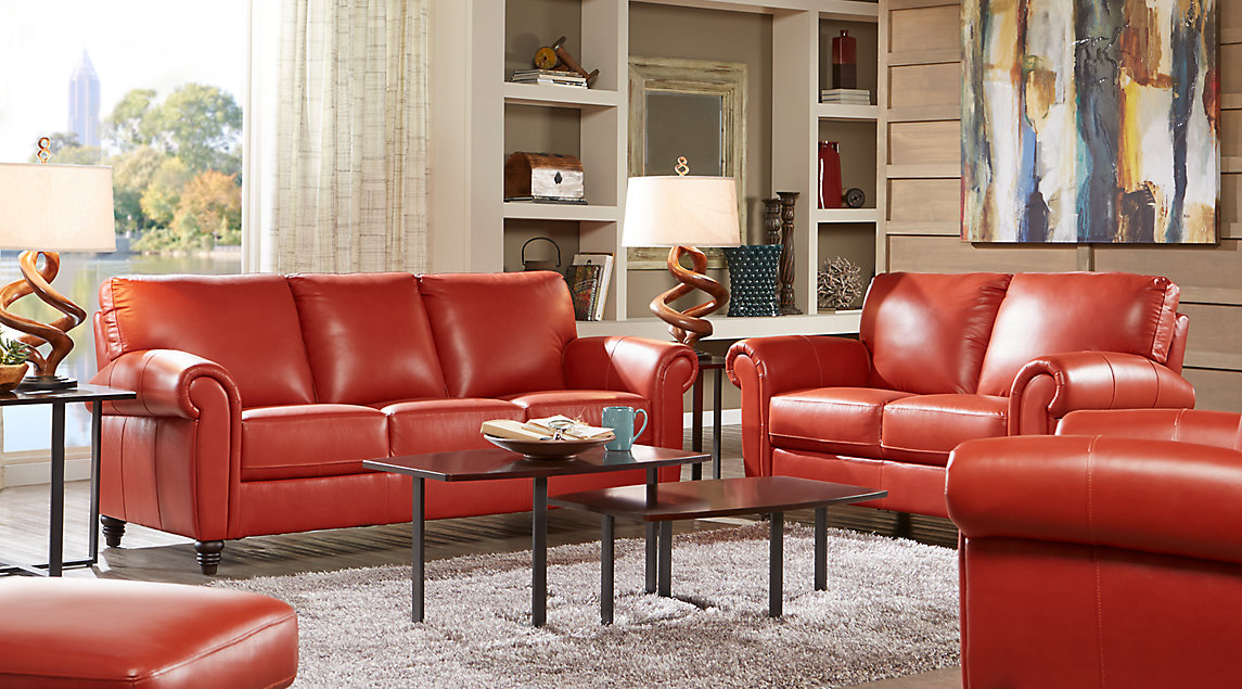 leather microfiber living room
